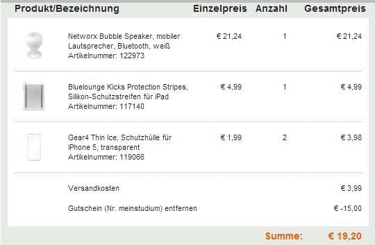 21,24€ anstatt 24,99€ Networx Bubble Speaker mobiler Lautsprecher, Bluetooth