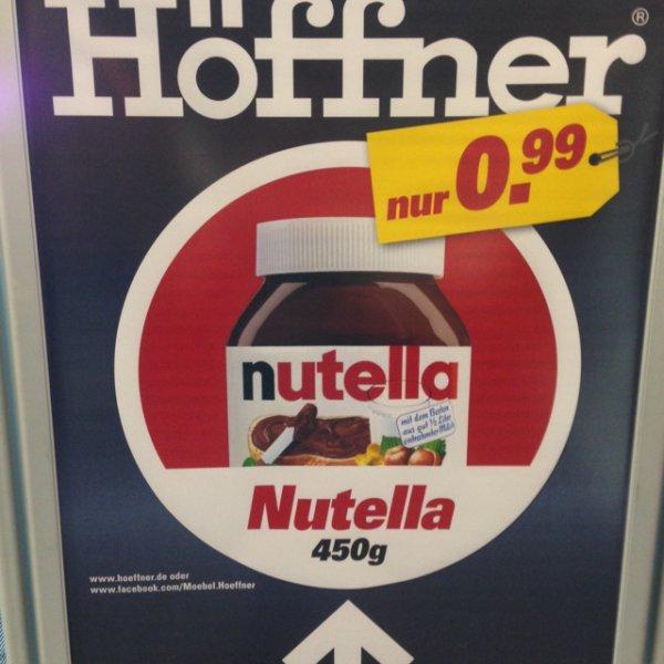 450g Nutella Glas für 0,99 bei Höffner in Fürth (lokal)