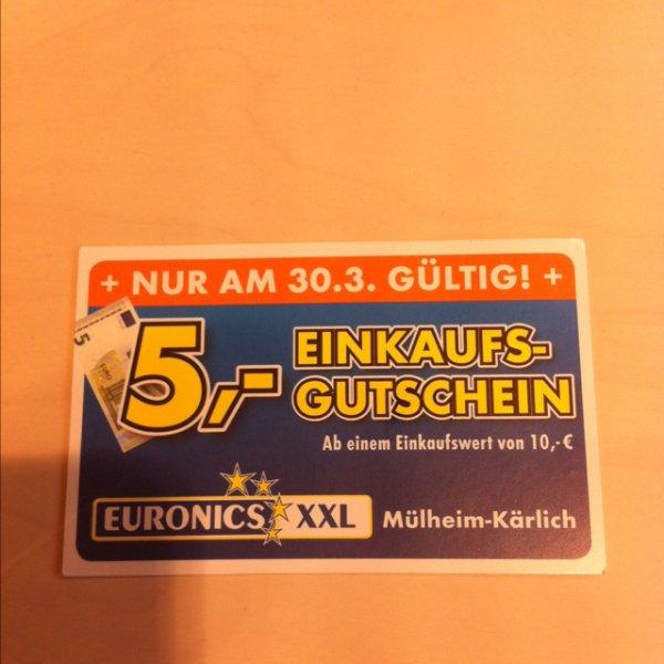 5€ Gutschein bei Euronics Mühlheim-Kährlich