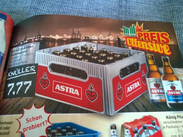 Kiste Astra Pils (30 x 0,33l) für unfassbare 7,77 €