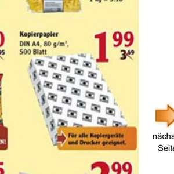 [Lokal] [Globus Hockenheim] Kopierpapier 500 Blatt