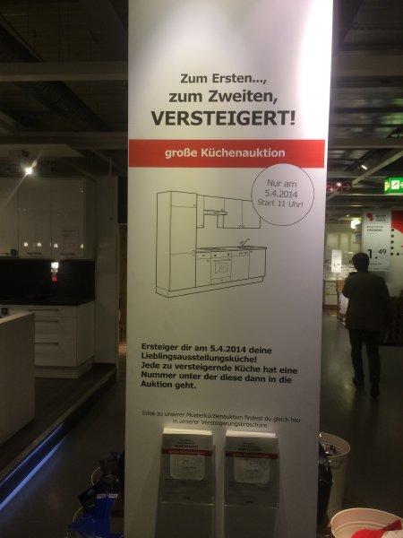 LOKAL München IKEA Musterküchen Versteigerung am 5. April