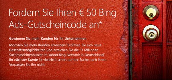 [Nur Neukunden] 30+50 Euro BingAds Gutschein