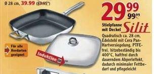 """(Lokal-Globus Zwickau) Silit Viereckpfanne """"Salto"""" inkl. Glasdeckel 28x28cm"""