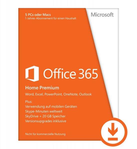 Office 365 Home Premium für 70,83EUR bzw. 62,99EUR bei Amazon (statt 99, EUR bei Microsoft)