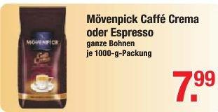 [lokal V-Markt Oberbayern] Mövenpick ganze Bohne 1Kg (Caffè Crema / Espresso)