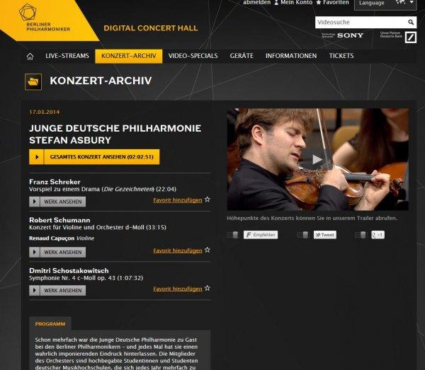 Digital Concert Hall: Alle kostenlosen Konzerte