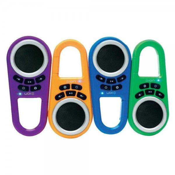 Ion Clipster Mobiler Bluetooth®-Lautsprecher mit Karabiner-Clip, verschiedene Farben, für 12,95€ @ebay.de