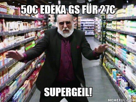 [lokal NRW / ESSEN] 50€ EDEKA Gutschein für 27€ ab heute 13:00 Uhr @ radiogutscheine.de (nur 50 Stück verfügbar!)
