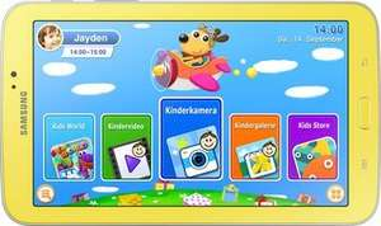 "Samsung GALAXY Tab 3 Kids 17,78 cm (7"") 8GB Tablet Gelb via meinpaket statt 149 zu 124,99 Euro"