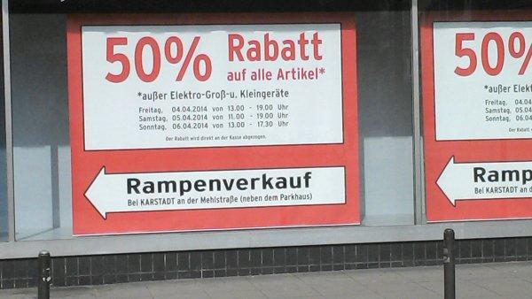 [Karstadt Hannover Rampenverkauf] 50 % auf alles*
