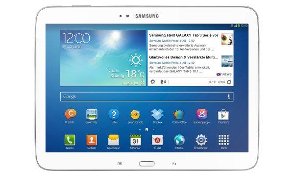 Samsung GALAXY Tab 3 10.1 Zoll, 16 GB, WiFi + 3G in weiß