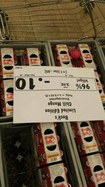 [LOKAL Olpe] Beck's Chilli Mango-Plörre für 10 Cent pro Sixpack @Kaufland