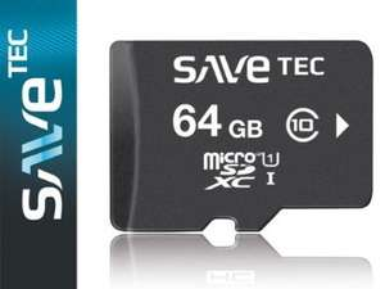 64 GB SaveTec micro SDXC C10 U1 UHS-1 inkl. VSK