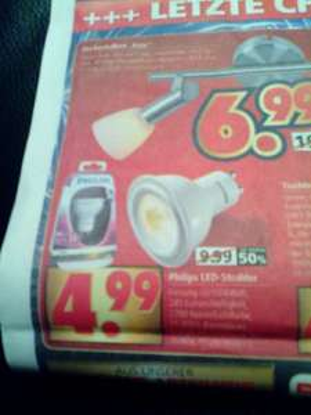 (Lokal + offline) Philips led Strahler Gu 10 4watt für 4,99€ @segmüller Weiterstadt / 4,50€ @Hornbach