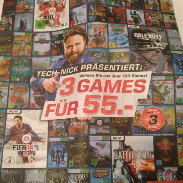 Saturn 3 Games (PC, XBox, PS3) für 55€