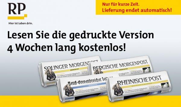 4 Wochen Rheinische Post lesen (wahlweise gedruckt oder digital); automatische Kündigung