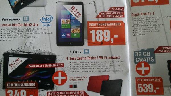 [lokal: Berlin] Lenovo IdeaTab Miix2-8 Win8-Tablet mit Office nur 189,- Euro