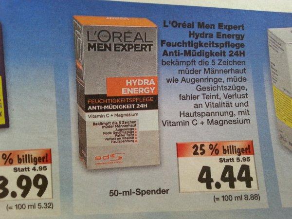 L'Oreal Men Expert Hydra Energy @ Kaufland (Berlin und Ahrensfelde-Eiche) für 4,44 €