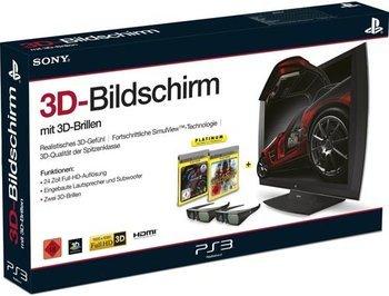 Sony Computer Entertainment 3D Bildschirm (auch als Monitor nutzbar) + 2x 3D Brillen (inkl. Killzone 3 + Gran Turismo 5 USK) für 196€
