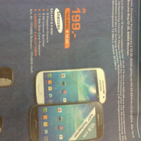 [Lokal] Samsung S4Mini 199€, Saturn Stuttgart