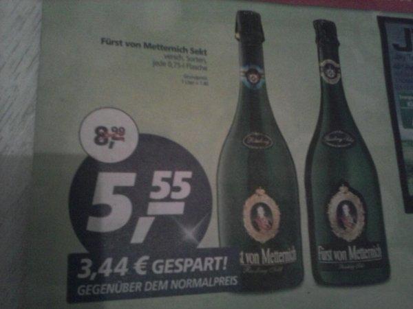 Lokal (Real in Leverkusen) Fürst von Metternich Sekt 0,75 Liter nur 5,55 €