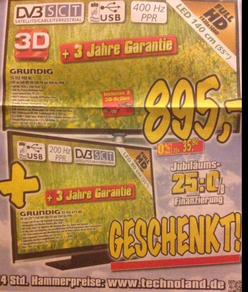 Grundig 55 VLE 988 BL + 32 VLE 675 BG für 895€ zusammen