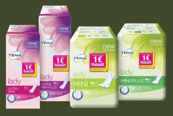 Cashback-Aktion von Tena: Jetzt beim Kauf pro Tena_Packung Lady Slipeinlagen1€ kassieren.