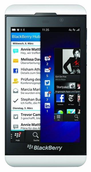"""[amazon WHD] Blackberry Z10, weiß, """"sehr gut"""", 188,-"""