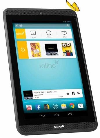 [Buecher.de] Tolino Tab 7'' (7 Zoll/17,7 cm HD-Tablet, HQ-Stereo-Sound, Quad-Core-Prozessor) für 134 € und Tolino Vision für 114 €