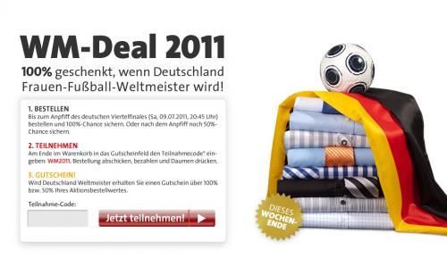 Youtailor gibt 100% Rabatt zum WM-Titel der Frauen, Bestellung muss heute vor Anpfiff erfolgen , sonst nur 50%