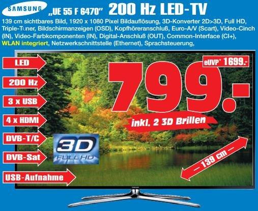 [Lokal GE] Samsung LED TV UE55F6470