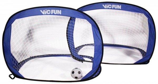 VICFUN Fußballtor Pop Up Goal Set mit 2 Toren inkl. Ball und Pumpe, blau/schwarz 29,99€
