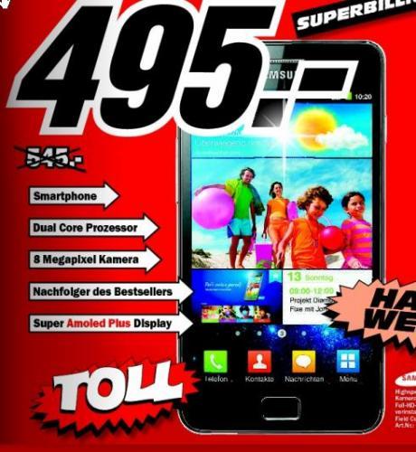 Samsung Galaxy S2 Noble Black MediaMarkt Frankfurt Borsigallee 495€