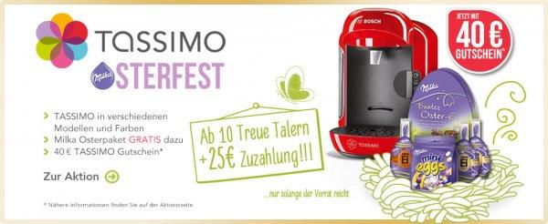 TASSIMO Maschinen ab 25€ & Milka Osterpaket gratis dazu - keine Versandkosten