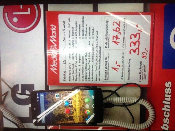 LG Nexus 5 weiss 16 GB lokal im MM Berlin Alexanderplatz