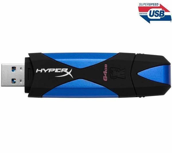 KINGSTON DataTraveler HyperX USB-Stick 3.0 mit 64 GB für 45,99 € inkl. Versand