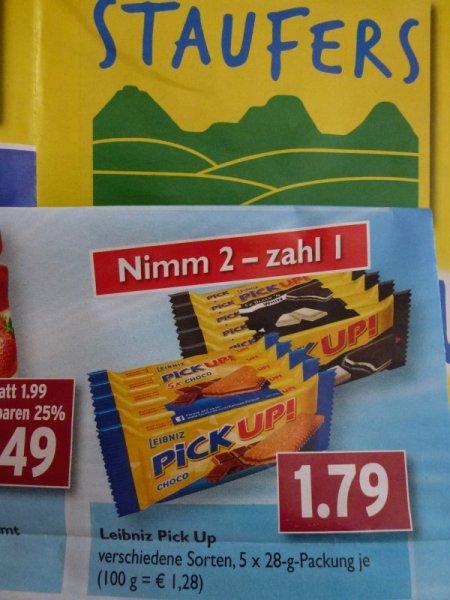 Leibniz Pick Up! Nimm 2 - Zahl 1 (=> 2x 5+1 = 12 Stück) @ EDEKA/STAUFERS lokal