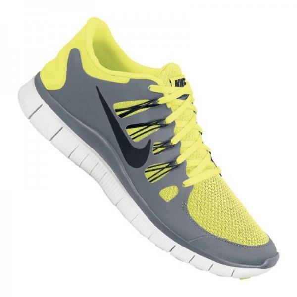 Nike Free 5.0+ Running Grau Gelb