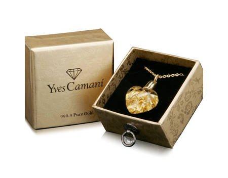 Yves Camani Glas Herz Anhänger 999,9 Gold - 18,49€ inkl. Versand @MP