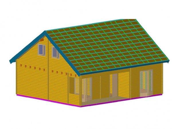 Blockbohlenhaus als Erstwohnsitz geeignet 5 Zimmer/Küche/Bad