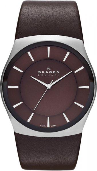 Skagen Herren-Armbanduhr Klassik Analog Quarz Edelstahl SKW6016 braun