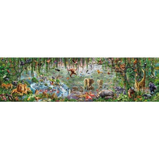 Weltgrößtes Puzzle mit 33600 Teilen - Educa Wildlife 5,70m x 1,57m [www.puzzle.de]