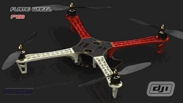 DJI FW450 KIT incl. 4 Regler, 4 Motore 4 Propeller OHNE NAZA für 99€ + Versand