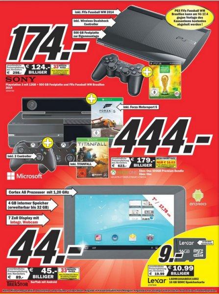 [Lokal Mediamarkt Worms] Xbox One Ink. Titanfall + 2. Controller + Forza Motorsport 5 für 444 € @ Verkaufsoffener Sonntag