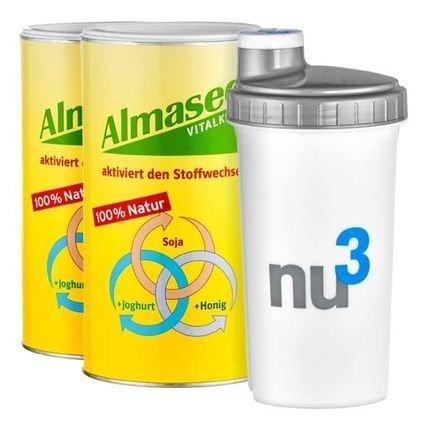 2x 500gr - Almased nu3-Starterpaket mit Shaker auf eBay