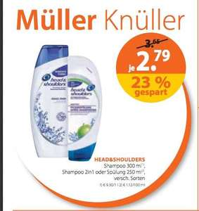 [Müller] Head & Shoulders 300ml für 1,79€