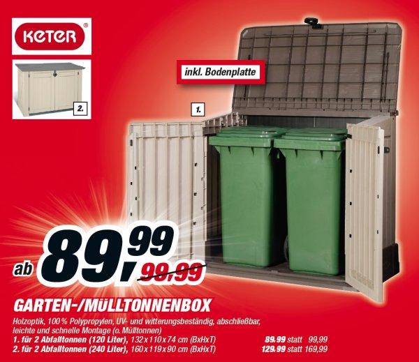 KETER Mülltonnen-/Gartenbox für 2 Abfalltonnen (120l)@toomBaumarkt On-/Offline