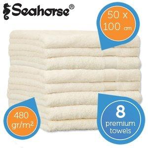 Seahorse 8-tlg. Prestige - Handtücher Set aus gekämmter Baumwolle für 29,95€ zzgl. 5,95€ frei Haus @iBOOD