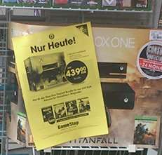 Xbox One Titanfall Bundle 439€ Gamestop Stuttgart